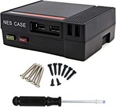 The perseids NESPI CASE, NES Inspired Raspberry Pi Case, Functional Power and Reset Buttons Mini Computer Case for Raspberry Pi 3, 2 and 3B+ (B Plus) in Black