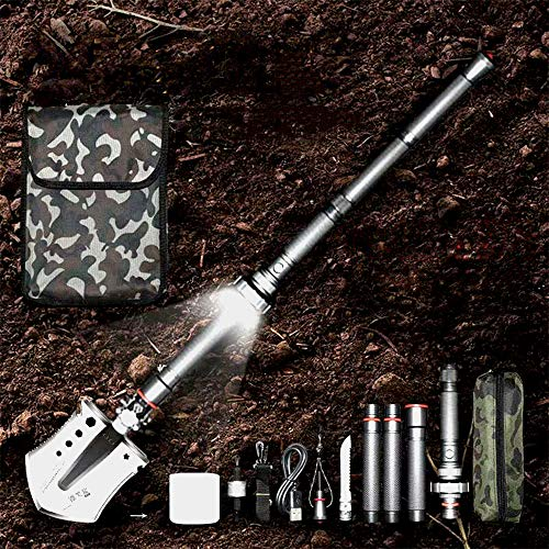 AB engineering shovel Ingenieur Schaufel Multi-Funktions-große Rüstung aus Mangan-Stahl, Outdoor-Schaufel Schaufel Auto - lang 127cm