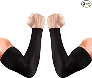 aegend 2 Pair UV Protection Cooling Arm Sleeves UPF 50 Sun Sleeves for Men Women Youth