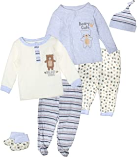 Duck Duck Goose Baby Boys & Girls 6-Piece Cap, Shirt, and Pants Sets