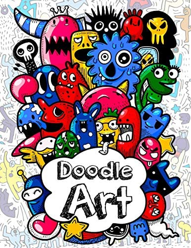 Doodles Art Funny Super Cute Adult and children Coloring Books Relax on an Activity Adorable product image