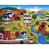 Spilsbury - 1000 Large Piece Premium Jigsaw Puzzle for Adults by Artist Steven Klein - Country Village - Spilsbury Puzzle Company Premium Collection