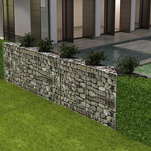 Lingjiushopping Panier de jardin/jardinière en acier 360 x 90 x 100 cm Couleur argent Taille de la maille : 10 x 5 cm (longueur x largeur)
