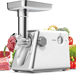 Giantex Electric Meat Grinder Sausage Stuffer Kit Machine Stainless Steel Maker Aluminum Tray Cutting Food Blades Heavy Duty Kitchen Commercial Industrial Stuffing Machine Meat Mincer, 1300W