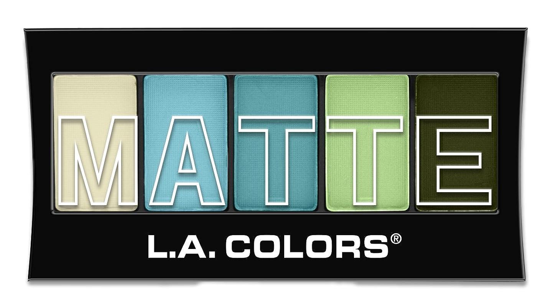 ブルーベル通常トランクライブラリL.A. Colors Matte Eyeshadow - Teal Argle (並行輸入品)
