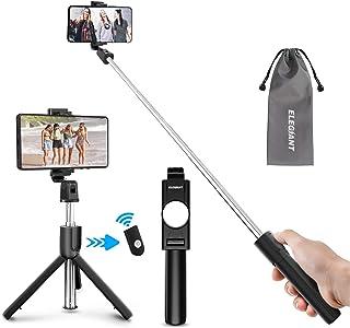 ELEGIANT Selfie Stick Tripod, Bluetooth Mobile Selfie Stick för resor, utdragbar trådlös fjärrkontroll, 3-i-1 sportmonopod...