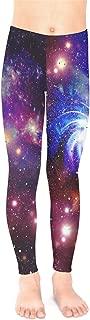 Galaxy Celestial and Night Sky Pattern Unisex Little & Big Kids Long Stretch Leggings,Size:2-16