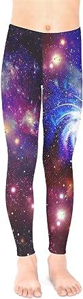 234f52cc89bb9 PattyCandy Galaxy Celestial Night Sky Pattern Unisex Little & Big Kids Long  Stretch Leggings,Size