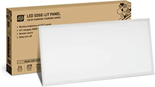 2-Pack ASD 40W 2x4 LED Panel Color Changing Dimmable Commercial Grade Edge-Lit Flat 3500K-5000K (Warm/Bright/Daylight) Standard
