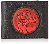 Difuzed Cartera Unisex para Adultos Super Mario Bros. Retro Mario Patch Bi-Fold Negro (Negro)