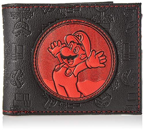 Difuzed Super Mario Bros. Red Patch Bi-fold, Unisex-Erwachsene, Schwarz (Black)