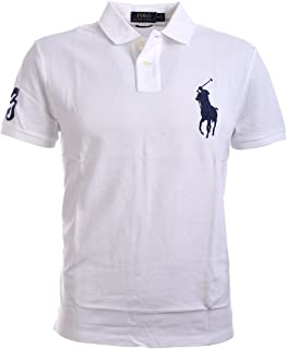157fe0ed FREE Shipping on eligible orders. Polo Ralph Lauren Mens Big Pony Custom  Slim Fit Mesh Polo Shirt