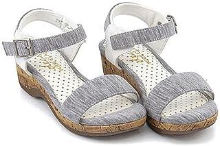 [ナイスクラップ] 女の子 キッズ 子供靴 運動靴 通学靴 カジュアルサンダル ウェッジソール 歩きやすい 疲れない カジュアル デイリー スポーツ スクール 学校 35014