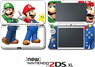 New Super Mario Bros 3D Land World 2 Luigi Video Game Vinyl Decal Skin Sticker Cover for Nintendo New 2DS XL System Console