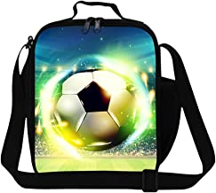Generic Football Printing Lunch Bags for Boys Adult Insulated Meal Bag Thermal Food Bag