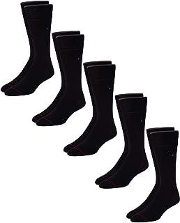 Men's 5 Pair Flat Knit Rayon Blend Crew Socks