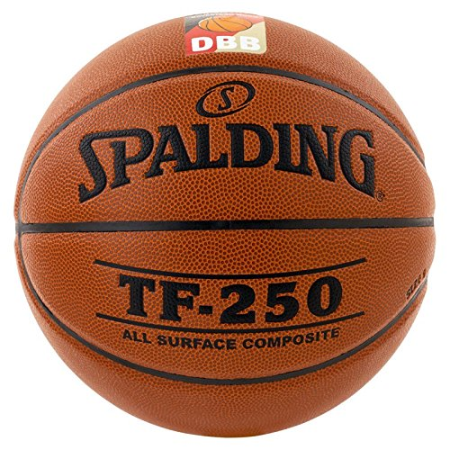 Spalding Basketball TF250 DBB In/out 74-593z Ball, orange/Weiß, 6