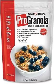 Julian Bakery® ProGranola® Cereal | Peanut Butter Cluster | 12g Protein | 2 Net Carbs | Gluten-Free | Grain-Free | 3 Pack