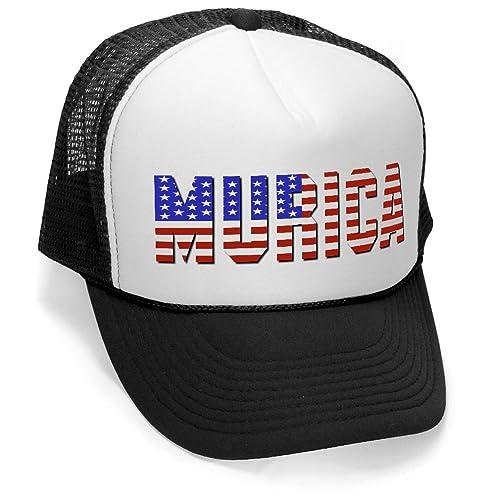 fff5dfddefe Murica Fourth of July USA - Retro Vintage Style Trucker Hat Cap