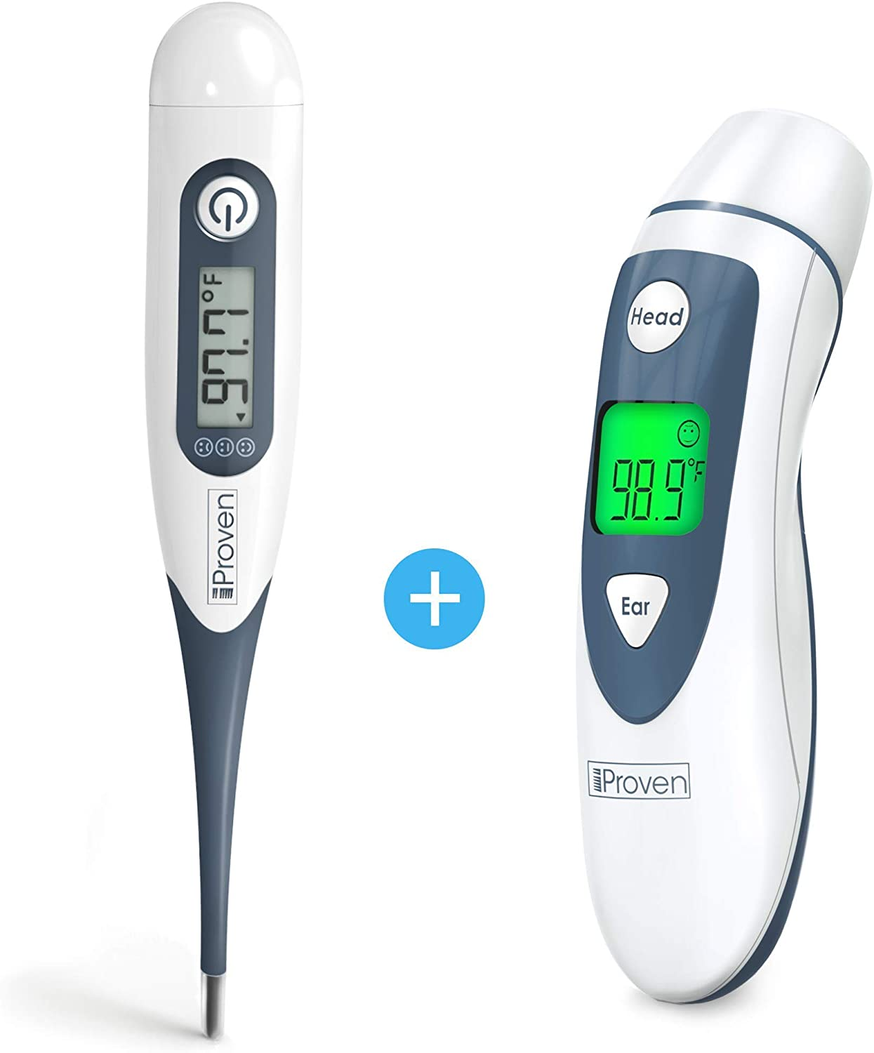 iProven Rectal Max 57% OFF Thermometer OFFicial mail order DTR-1221A + DMT-489 Ear