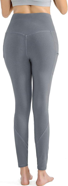 Pacrate Mallas Pantal/ón Deportivo de Mujer Cintura Alta Leggings Mallas para Running Training Fitness Estiramiento Yoga y Pilates