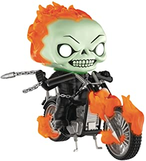 Pop Rides Marvel Classic Ghost Rider with Bike Glow in the Dark Vinyl Figure