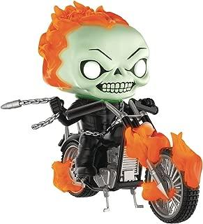 Funko Pop! Rides: Marvel Classic Ghost Rider with Bike (Glow in The Dark Version) Vinyl Figure