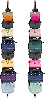 IZUS Bag-Organizer-Rack-Holder Purse Hanger for Door - 20 Hooks for Handbags for Closet and Door 2Pcs (Rack for Handbags/2 pcs Hold 20 Bags)