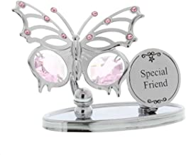 Crystocraft Keepsake Gift Ornament - Special Friend Butterfly Plaque with Swarvoski Crystal Elements