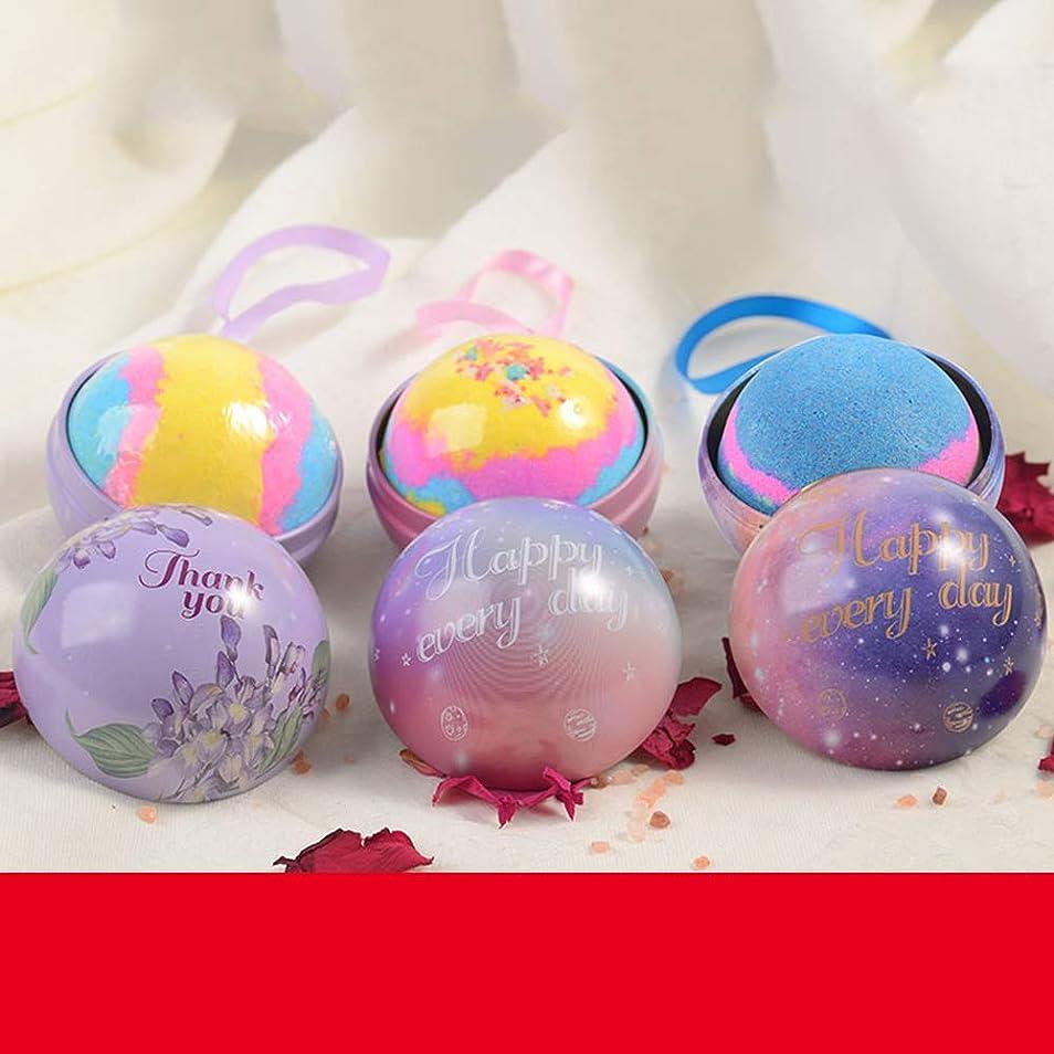 バスボム 入浴剤 炭酸 バスボール 6つの香り 手作り 入浴料 うるおいプラス お風呂用 入浴剤 ギフトセット3枚 贈り物 プレゼント最適