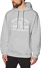 Negi Casual Hoodie Pullover Sweatshirts Mans Don't Rush Me I Get Paid by The Hour Gray