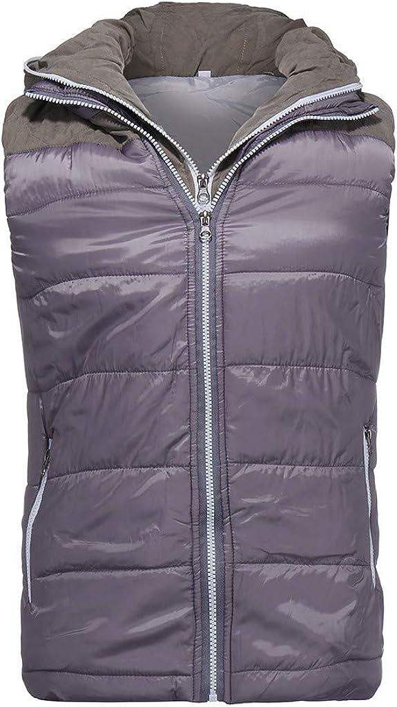 Felpa da Uomo Felpa con Cappuccio Autunno Inverno Moda Colore Puro Colore Waistcoat Vest Top Coat