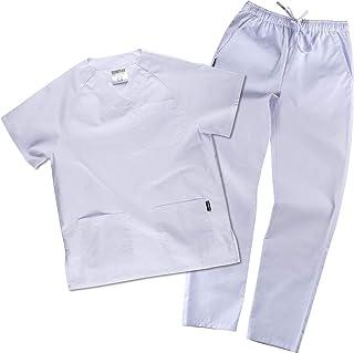 Work Team Uniforme Sanitario, con elástico y cordón en la Cintura, Casaca y Pantalon