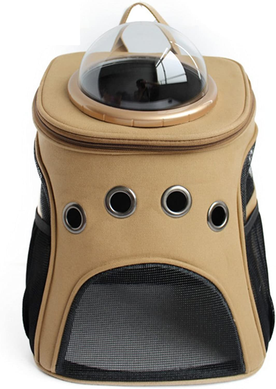 LoKauf Canvas Astronaut Dog Cat Backpack Carrier Transparent Breathable Small Pet Shoulders Bag