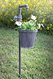 Faucet Garden Stake with Planter from Colonial Tin Works