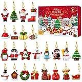 TOYANDONA 24Pcs Calendario Dellavvento di Natale Albero di Natale Ornamenti Appesi Calendario Dellavvento Charms per La Decorazione di Ornamenti Natalizi