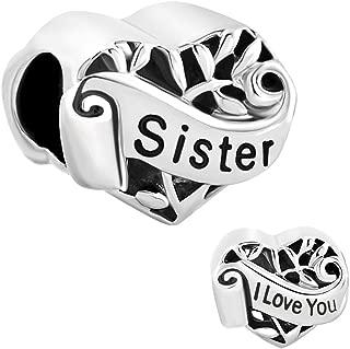 Grandma/Wife/Sister/Niece/Aunt Heart I Love You Beads for Bracelets