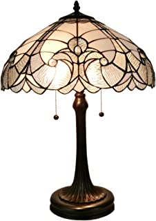 Amora Lighting Tiffany Style Table Lamp Banker Floral 23