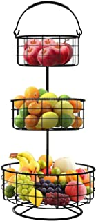GZZX 3-Tier Countertop Fruit Basket Holder & Decorative Bowl Stand ? Perfect for Fruit, Vegetables, Snacks, Household Item...