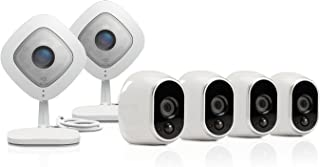 Arlo Ultimate Security System - 4 Wire-Free Outdoor HD & 2 Arlo Q 1080p Indoor HD Cameras (VMK3500)