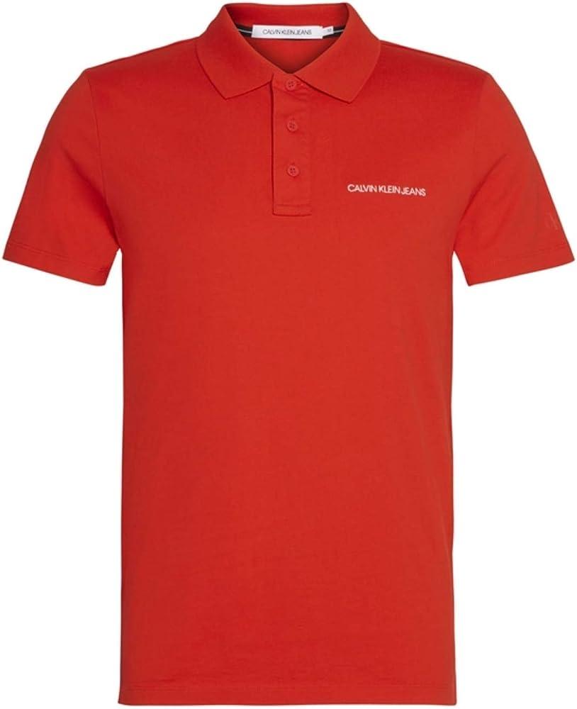 Calvin klein institutional polo,maglietta da uomo,100% cotone J30J315344-XA7