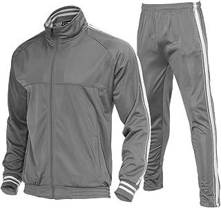 Mens Athletic 2-piece set Tracksuit Suit Casual Jogging Suits Sports Set