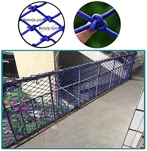 AI LI WEI Beschermend net decoratie/Balkon leuning trap Safe Net, Kinderspeelgoed Huisdier Veiligheid Beschermer Plafond Net Blauw Decoratief Net Duurzaam Weerbestendig Hek Vrachtwagen Vrachtwagen Trailer