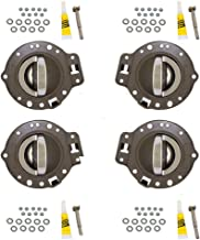 4 Piece Set of Inside Interior Door Khaki Housing with Chrome Handles Replacement for Jeep SUV 1PS47BD1AA 1PS46BD1AA AutoAndArt