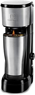 Chefman Instabrew Single Serve Coffee Maker Brewer for K-Cup Pods Fresh Grounds &..