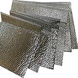 Optim Home - 6 Bolsa/Sobre Isotérmico Burbuja aire y aluminio 2 caras ( 3 de 35x25 y 3 de 50x30 cm ) solapa 10 cm, cierre Velcro, Reutilizable, Preservar y Conservar alimentos bebibas