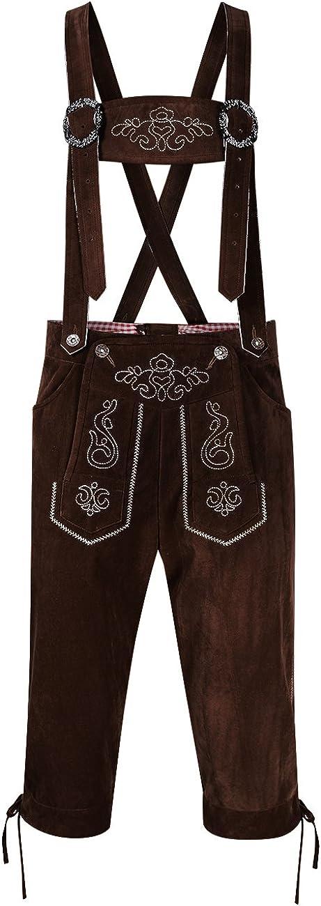 Clearlove Men's German Bavarian Lederhosen Trousers Soldering Oktoberfest Year-end annual account