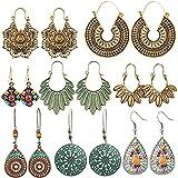 8 Pairs of Vintage earrings Drop Dangle earrings set hollow Earrings Bohemian Earrings for Women
