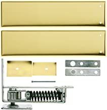 Standard Duty Swinging Door Floor Hinge with Plated-Steel Cover Plates in Polished Brass Finish