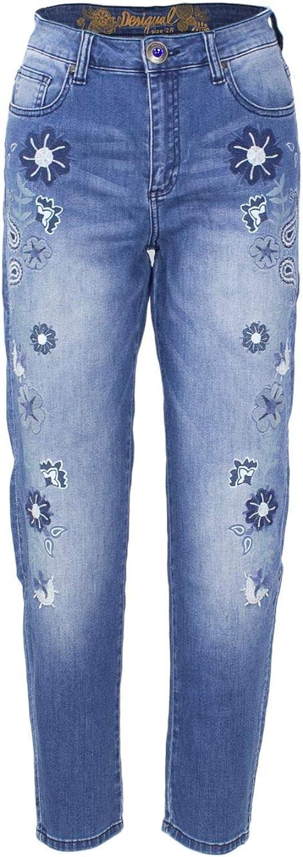 Desigual Women's 18WWDD42blueE bluee Cotton Jeans